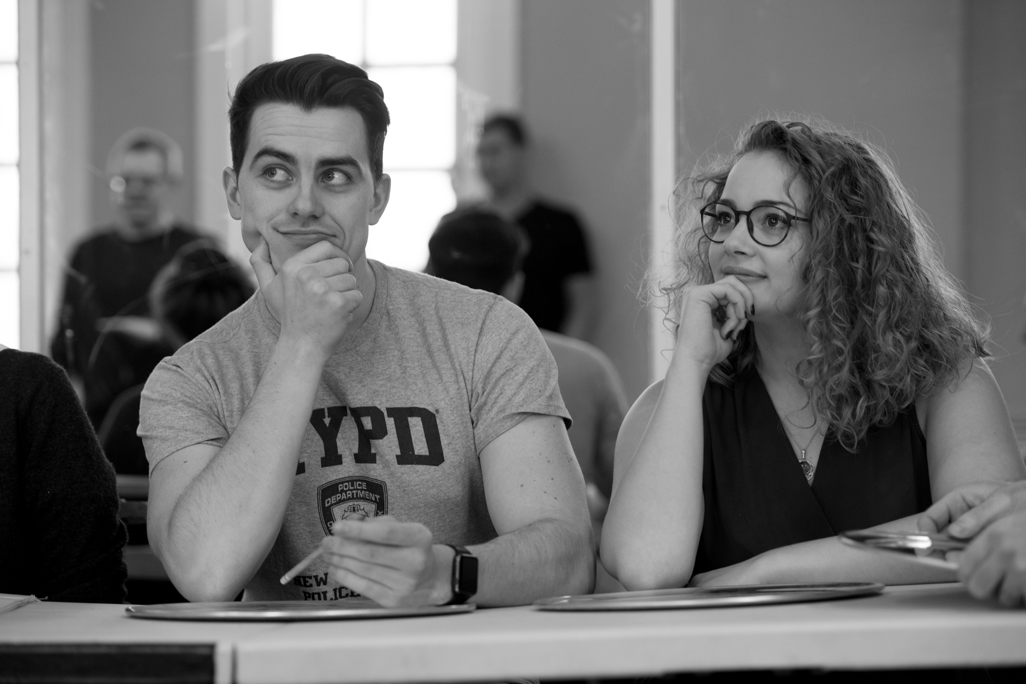 oliver-ormson-and-carrie-hope-fletcher-in-addams-family-rehearsals_credit-craig-sugden-2
